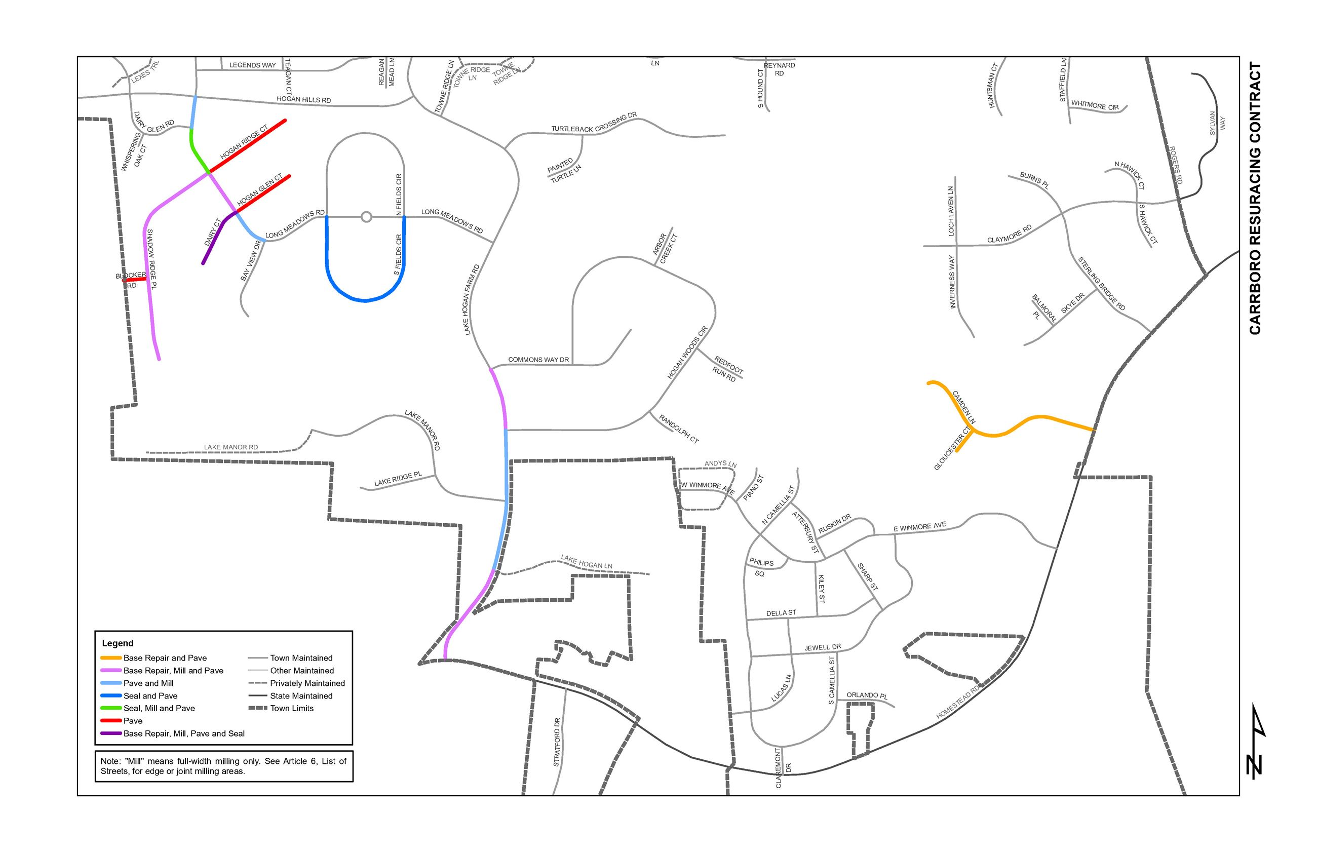 2020 Street Resurfacing Project Map Page 2