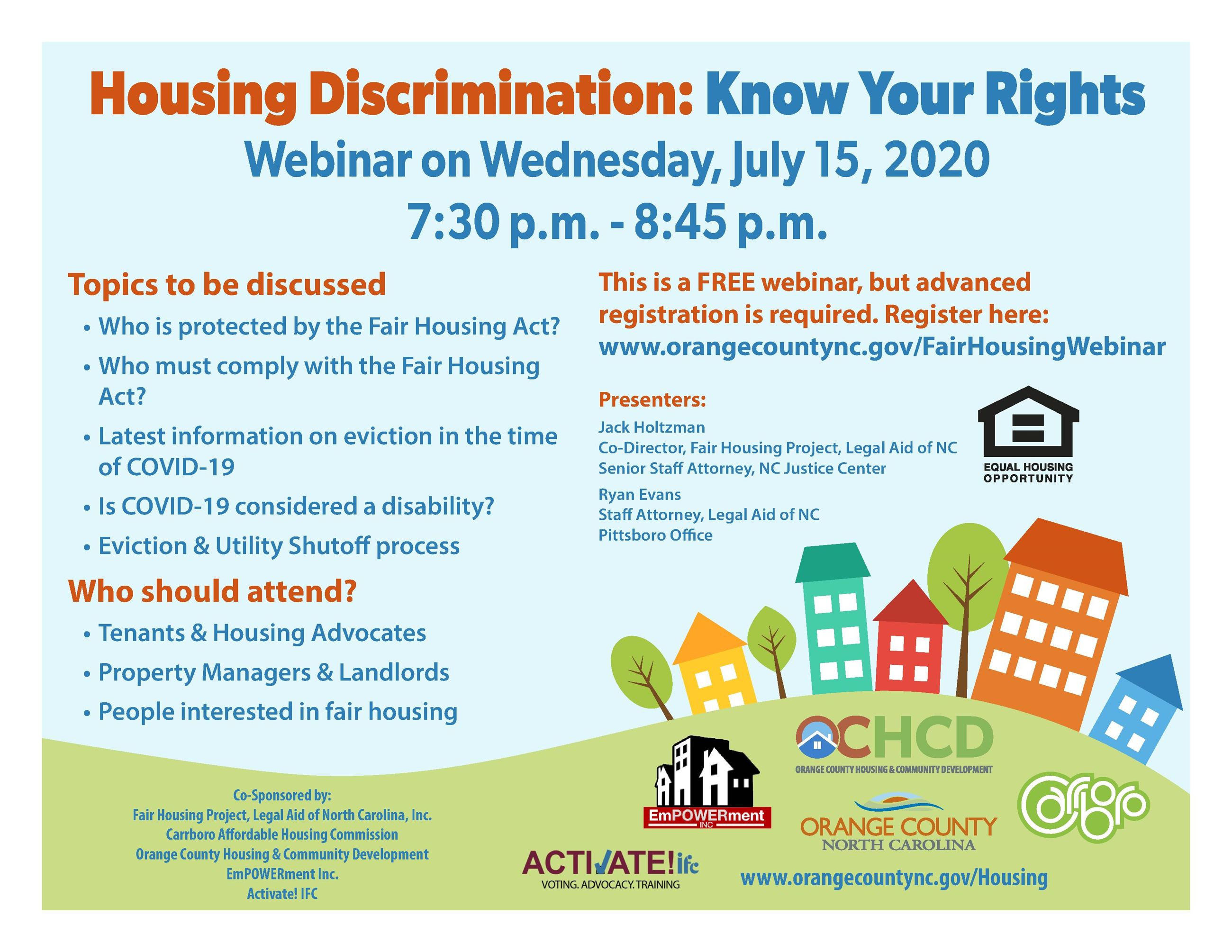 FAIR HOUSING flyer
